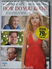 How Do You Know (DVD, 2011) NEW SEALED (Nordic Packaging) Region 2 PAL