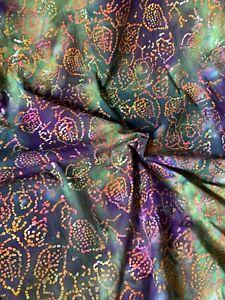 1 Meter Multicolour Stone Tye & Dye Aztec Batik 100% Cotton Fabric 45'' Wide