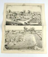 Antique Biographical Sketch Prints Early 1900s Madison County IL Illinois