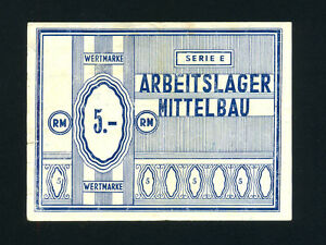 Germany/Mittelbau Camp: 5 RM,1943-5 * WWII * Rare *