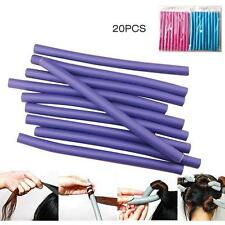 20PCS Curl DIY Hair Curlers Tool Styling Rollers Spiral Circle Magic Roller S,