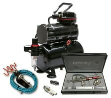 PISTON COMPRESSOR WITH TANK + HARDER & STEENBECK INFINITY 2 in 1 AIRBRUSH KIT