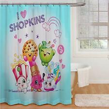 "Shopkins, ""I Love Shopkins"" Fabric Shower Curtain  72"" x 72"""