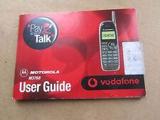 1999 Motorola M3788 User Guide Vodafone Pay as You Talk