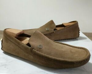 Gucci Driving Mocassin Men's Shoes Light Brown Suede Sz 10 G Italy / 11 USA