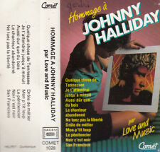 "K7 AUDIO (TAPE) LOVE AND MUSIC   ""HOMMAGE A JOHNNY HALLYDAY"""