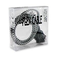 Textil Kabelset schwarz Pepita - E27 Fassung für Lampenschirm und 3 Meter Kabel