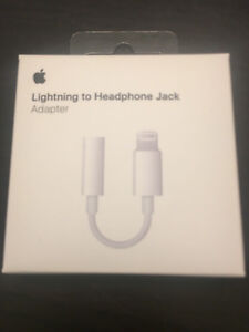 Genuine Apple Lightning to 3.5mm Jack Adapter MMX62ZM/A iPhone 7,7+8,8,X,XS MAX