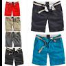 Surplus Raw Vintage Herren Chino Shorts Bermudas Stoff Hose m. Gürtel kurze Hose