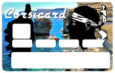 STICKER CORSICA CORSE ILE MAURE CARTE CREDIT BANCAIRE CARD AUTOCOLLANT CC052