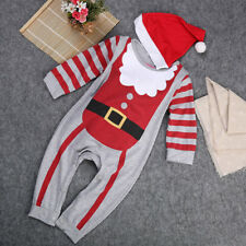 My First Christmas Baby Boy Girl Cotton Long Sleeve Romper Jumpsuit Outfits 2Pcs