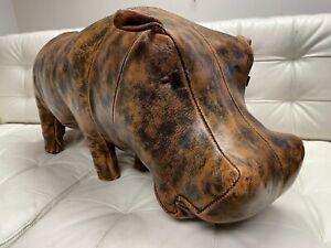 Mid Century Omersa Abercrombie Leather Hippo Hippopotamus Footstool Ottoman