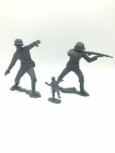 """Vintage Marx Plastic Toy Soldiers German Infantry Large 5"""""""