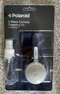 Polaroid 5 Piece Camera Cleaning Kit NEW Cleaning solution, blower brush, more