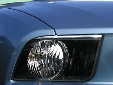 HEAD LIGHT HEADLIGHT CHROME EYELID EYE LID KIT FITS 2005 2009 05 09 FORD MUSTANG