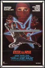 Original ENTER THE NINJA Movie Theater O/S FRANCO NERO ROBERT WALL plus daybill