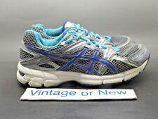 Girls Asics GT-1000 Titanium Iris Turquoise Running Shoes C303N sz 3