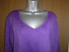 evans essence purple sparkle jumper size 16/18