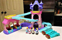 Fisher Price Little People Disney Princess Klip Klop Stable Castle with Horses
