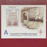 España año 2000 H  Exposicion Filatelica Nacional  EXFILNA Nº 3716 MNH
