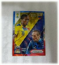 2014 Panini Prizm World Cup Blue Red Wave Matchups Valencia / Ribery #11