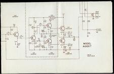 Rare Original Harman Kardon A1000T Stereo Amplifier Amp Schematic Diagram