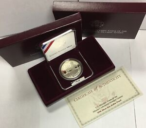 1996-P $1 Olympic - Tennis - Commemorative Silver Dollar in OGP Proof