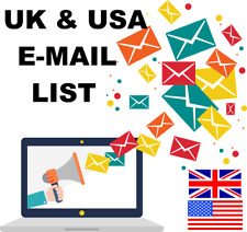 23 Million New UK & USA Email List Database for Marketing & Business Targeted