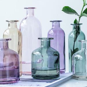 Colorful Decorative Clear Glass Vase Table Centerpiece Floral Bud Vase Bottle A