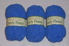 Northland Comfy Fleece Yarn Lot Of 3 Skeins (Arctic Sky #0004) 1.75 oz. Skeins