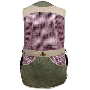 Browning WMNS Trapper Creek Mesh Shooting Vest (L)- Sage/Tan/Pink