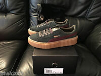 PUMA RIHANNA GREEN RED GUM SUEDE CREEPERS FENTY ALL SIZES 3 4 5 6 7 8 TRAINERS