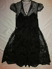KAY UNGER lace baby doll GOTHIC LOLITA victorian embroidered sheath dress 2 NEW