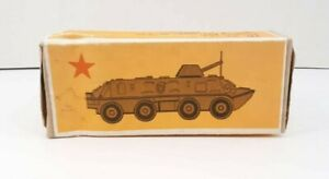 Vintage USSR Military Machine Metal Antique Russian tank toy Tin With Origin box