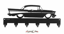 SWEN Products FARRELL 57 CHEVY Black Metal Key Chain Holder Hanger