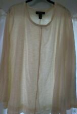 NEW WITH TAGS STYLE & CO. WOMAN WARM IVORY LONG SLEEVE TOP OX