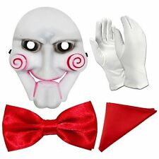 Jigsaw Saw Halloween Fancy Dress Set - Mask, Gloves, Bowtie and Pocket Square