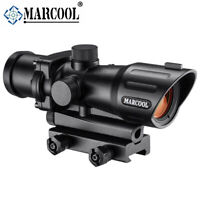 Marcool 1x30 IR Tactical Optics Hunting Rifle Scope Electro Red Dot Sight Cross