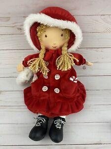 HOLLY HOBBIE Holiday Rag Doll Limited Edition 2005 Red Velvet Christmas Plush