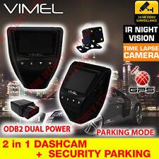 Dash cam 24/7 Security Parking Guard Dual Camera Car GPS Vimel Uber Taxi