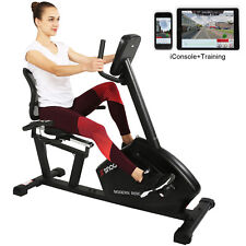 SNODE Magnetic Recumbent Exercise Bike with 16 Levels Resistance & APP Function