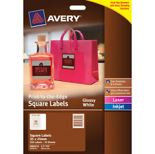 Avery Label 980015 L7119 Glossy White Square 35 up/10 Sheets