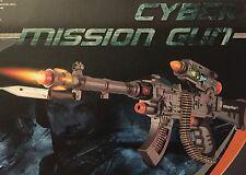 Ak47 Cyber missione Pistola con luce lampeggiante, che spara proiettili ROTANTE SOUND + 65cm