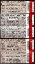 Linkin Park Tickets Projekt Revolution 5 Rare Unused Concert Verizon Comcast +++