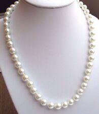 collier bijou vintage perles nacrées de qualité gris très clair attache vis 1939