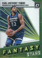 2018-19 Donruss Optic Fantasy Stars #4 Karl-Anthony Towns Timberwolves