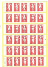 CARNET TYPE MARIANNE DE BRIAT ROULETTE DE 3 N° 2874-C4  daté 7.10.94 cote € 90