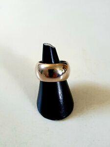 Breiter  925 Silber Ring Klassiker 12 Mm breit Größe 58