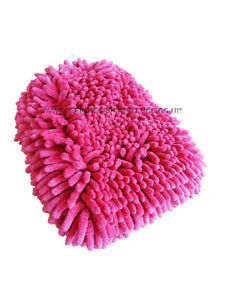 SERIOUS PERFORMANCE PREMIUM DUAL SIDED MICROFIBRE NOODLE WASH MITT - RED