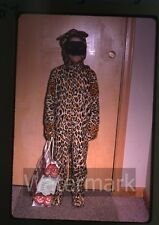 1970 kodachrome photo slide Halloween Costume Girl in leopard outfit